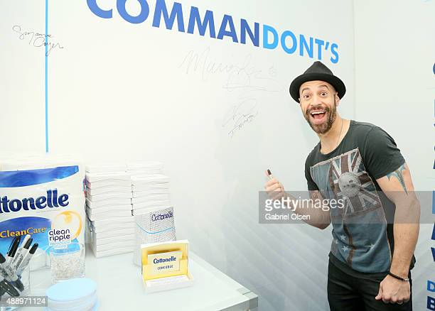Recording artist Chris Daughtry poses with Cottonelle at EXTRA's WEEKEND OF | LOUNGE produced by On 3 Productions at The London West Hollywood on...