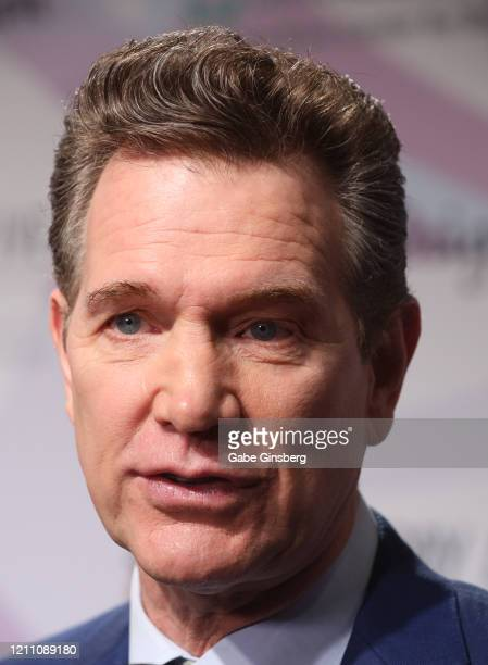 Recording artist Chris Isaak is interviewed during the 24th annual Keep Memory Alive Power of Love Gala benefit for the Cleveland Clinic Lou Ruvo...