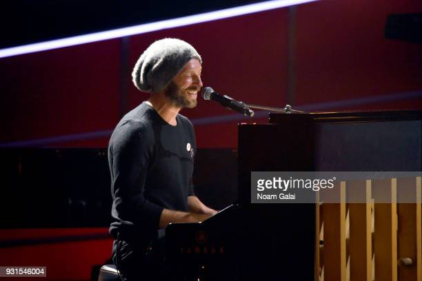 Recording artist Chris Martin of Coldplay performs onstage during 60th Annual GRAMMY Awards I'm Still Standing A GRAMMY Salute To Elton John at the...