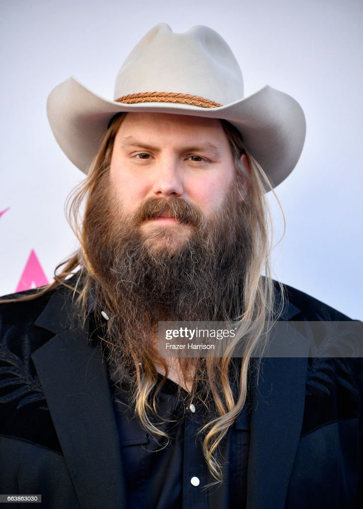 Recording artist Chris Stapleton attends the 52nd Academy Of Country Music Awards at Toshiba Plaza on April 2, 2017 in Las Vegas, Nevada.