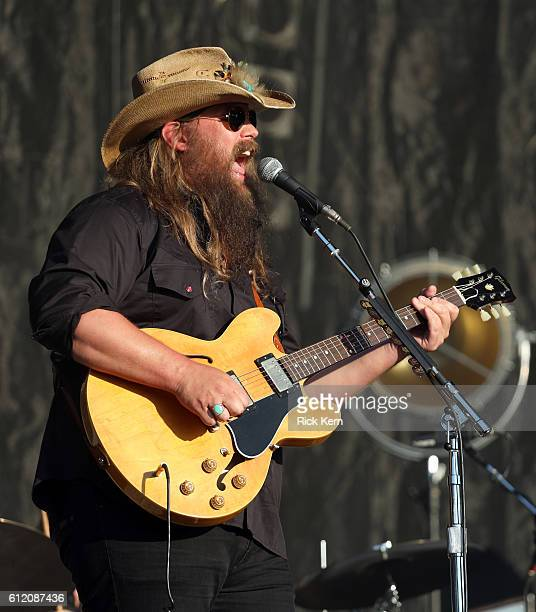Recording artist Chris Stapleton performs on the Samsung Stage during day 3 at Austin City Limits Music Festival 2016 at Zilker Park on October 2...
