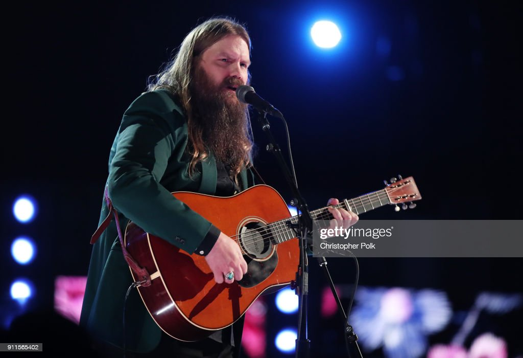 Recording artist Chris Stapleton performs onstage during the 60th Annual GRAMMY Awards at Madison Square Garden on January 28, 2018 in New York City.