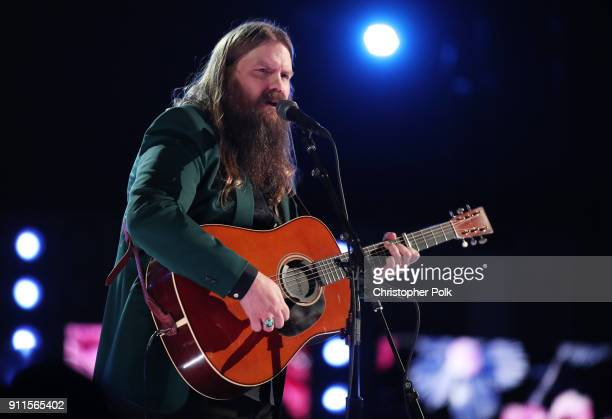 Recording artist Chris Stapleton performs onstage during the 60th Annual GRAMMY Awards at Madison Square Garden on January 28 2018 in New York City
