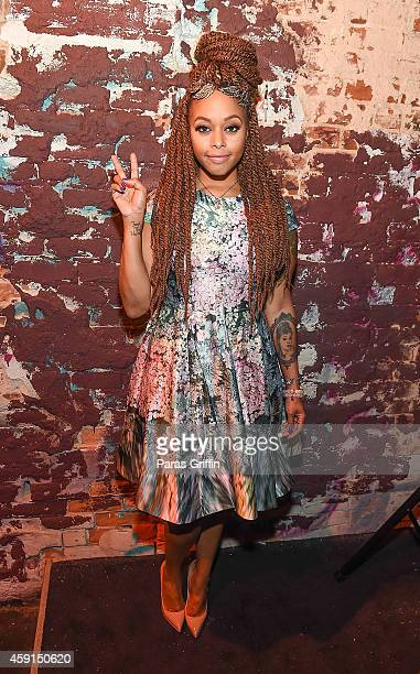 Recording artist Chrisette Michele attends Imported Peach Party at Cloud IX Lounge on November 17 2014 in Atlanta Georgia