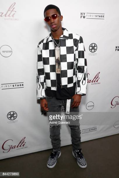 Recording artist Christian Combs attends the Galtiscopio Front Row/Backstage September 2017 New York Fashion Week First Stage at The Gallery at The...