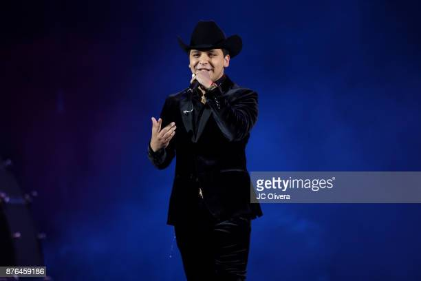 Recording artist Christian Nodal performs onstage during Uforia's 'KLove Live' at The Forum on November 19 2017 in Inglewood California