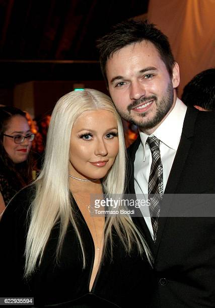 Recording artist Christina Aguilera and Matthew Rutler attend the Fifth Annual Baby2Baby Gala Presented By John Paul Mitchell Systems at 3LABS on...