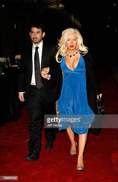 Recording artist Christina Aguilera arrives with husband Jordan Bratman at LACMA's Opening Celebration of the Broad Contemporary Art Museum on...
