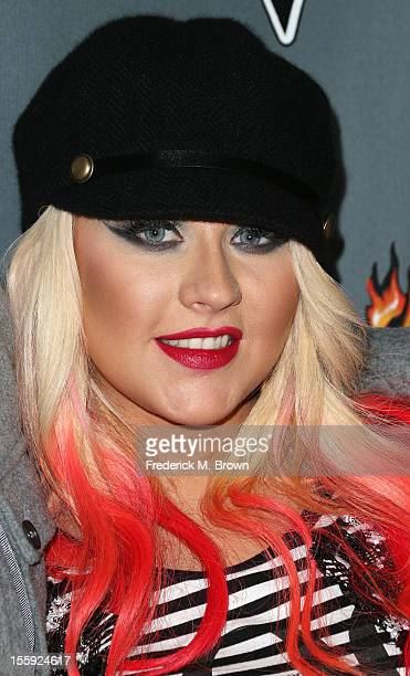 Recording artist Christina Aguilera attends NBCUniversal's The Voice Season 3 Red Carpet Event at The House of Blues Sunset Strip on November 8 2012...