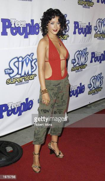 Recording artist Christina Aguilera attends Teen People Magazine's 6th Annual 25 Hottest Stars Under 25 Party at Lucky Strike Lanes on May 5 2003 in...