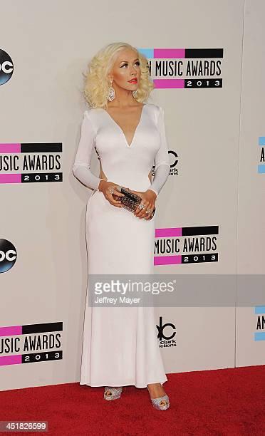 Recording Artist Christina Aguilera attends the 2013 American Music Awards at Nokia Theatre LA Live on November 24 2013 in Los Angeles California