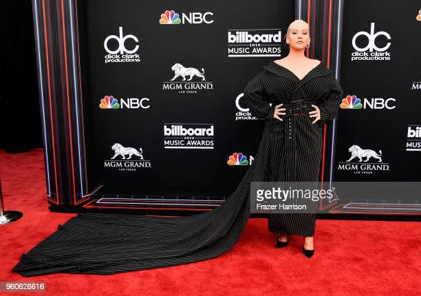 Recording artist Christina Aguilera attends the 2018 Billboard Music Awards at MGM Grand Garden Arena on May 20 2018 in Las Vegas Nevada
