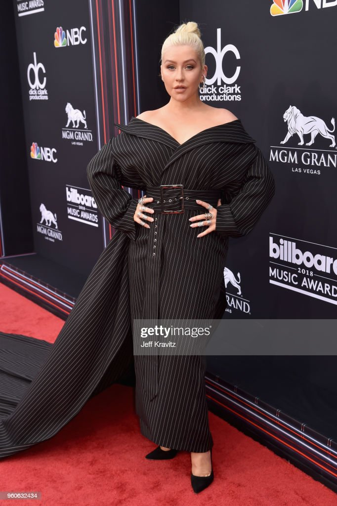 Recording artist Christina Aguilera attends the 2018 Billboard Music Awards at MGM Grand Garden Arena on May 20, 2018 in Las Vegas, Nevada.