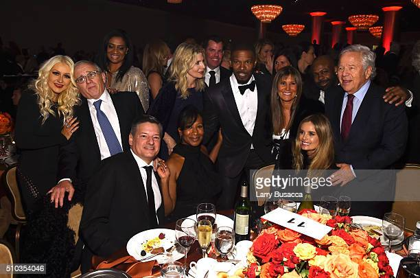 Recording artist Christina Aguilera honoree Irving Azoff Netflix chief content officer Ted Sarandos Nicole Avant actor Jamie Foxx Ricki Noel Lander...