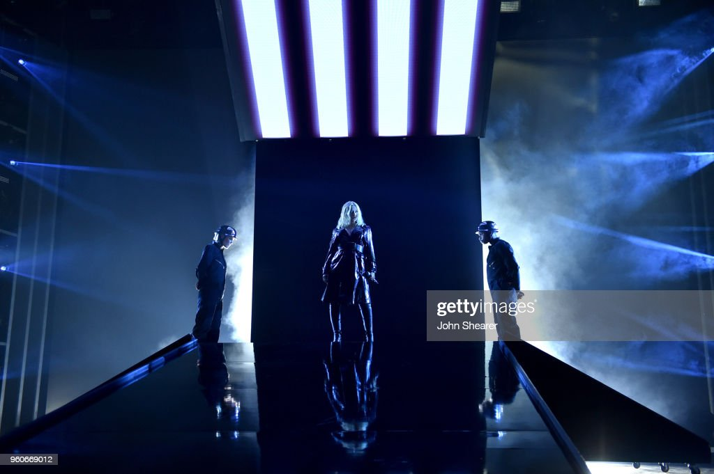Recording artist Christina Aguilera performs onstage at the 2018 Billboard Music Awards at MGM Grand Garden Arena on May 20, 2018 in Las Vegas, Nevada.