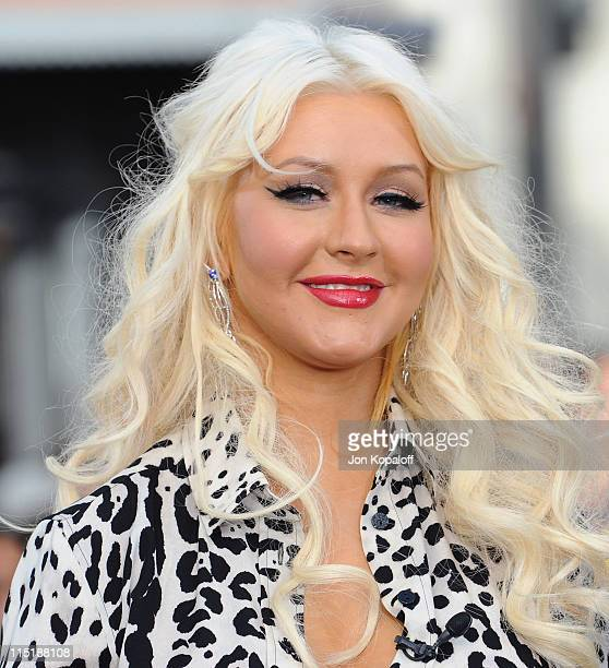 Recording Artist Christina Aguilera visits EXTRA at The Grove on June 3 2011 in Los Angeles California