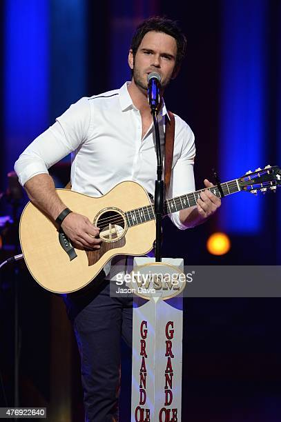 Recording artist Chuck Wicks performs at The Grand Ole Opry on June 12 2015 in Nashville Tennessee