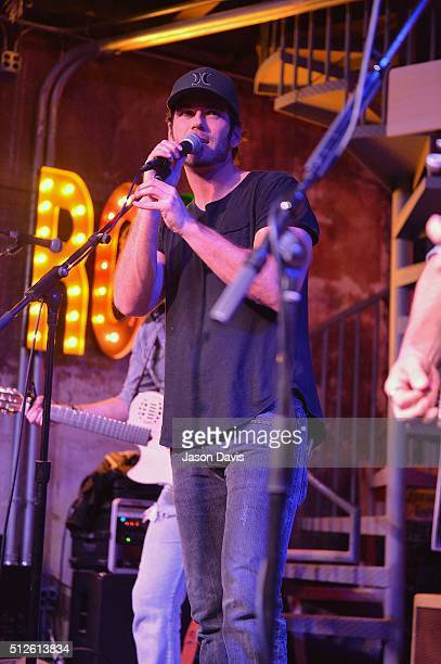 Recording Artist Chuck Wicks performs onstage during his Turning Point Album Release Show at the Tin Roof on February 26 2016 in Nashville Tennessee