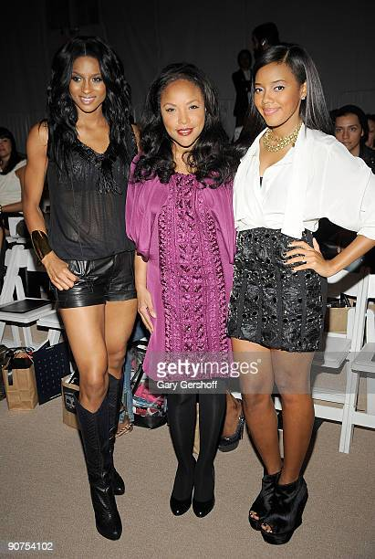 Recording artist Ciara actress Lynn Whitfield and TV personality Angela Simmons attend Tony Cohen Spring 2010 during MercedesBenz Fashion Week at...