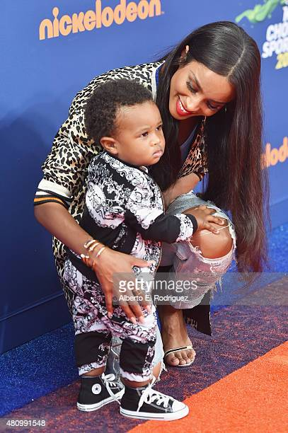 Recording artist Ciara and Future Zahir Wilburn attends the Nickelodeon Kids' Choice Sports Awards 2015 at UCLA's Pauley Pavilion on July 16 2015 in...