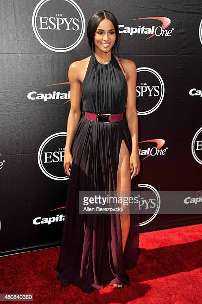Recording artist Ciara arrives at the 2015 ESPYS at Microsoft Theater on July 15 2015 in Los Angeles California