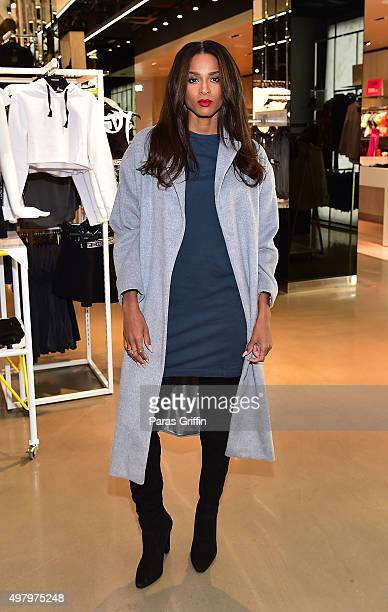 Recording artist Ciara arrives at Topshop Atlanta Store at Lenox Square on November 19 2015 in Atlanta Georgia