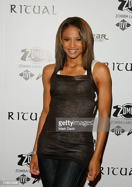 Recording artist Ciara arrives to Zomba Label Group's PreBET Awards Party featuring Ciara held at Ritual Nightclub on June 25 2007 in Hollywood...