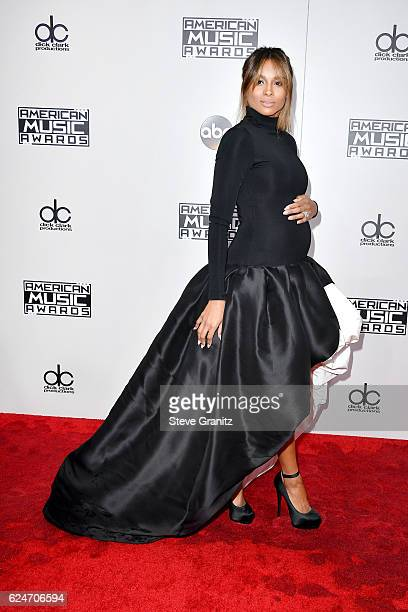 Recording artist Ciara attends the 2016 American Music Awards at Microsoft Theater on November 20 2016 in Los Angeles California