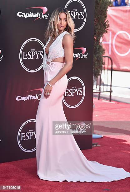 Recording artist Ciara attends the 2016 ESPYS at Microsoft Theater on July 13 2016 in Los Angeles California