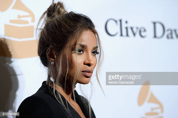 Recording artist Ciara attends the 2016 PreGRAMMY Gala and Salute to Industry Icons honoring Irving Azoff at The Beverly Hilton Hotel on February 14...
