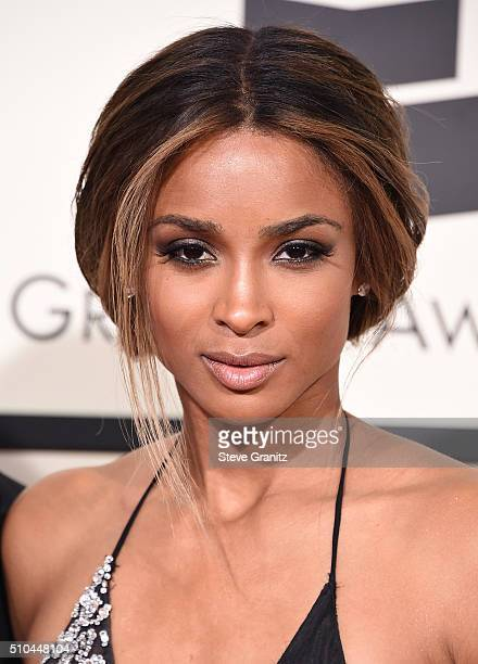 Recording artist Ciara attends The 58th GRAMMY Awards at Staples Center on February 15 2016 in Los Angeles California