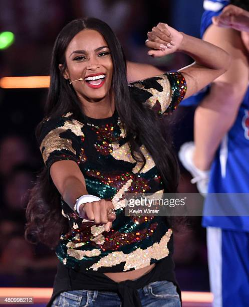 Recording artist Ciara performs onstage at the Nickelodeon Kids' Choice Sports Awards 2015 at UCLA's Pauley Pavilion on July 16, 2015 in Westwood,...