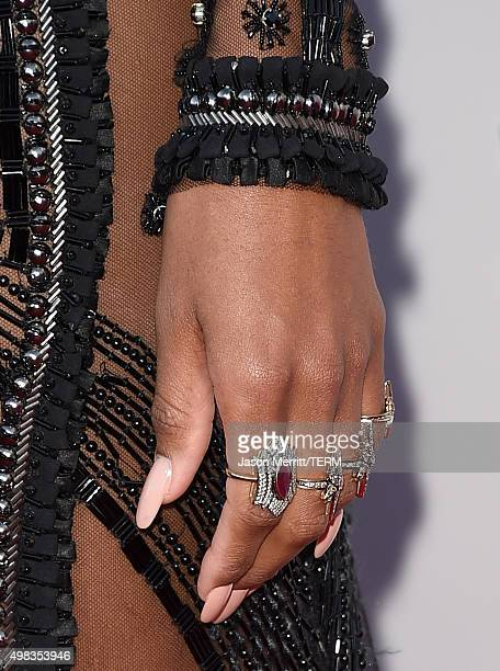 Recording artist Ciara ring detail attends the 2015 American Music Awards at Microsoft Theater on November 22 2015 in Los Angeles California