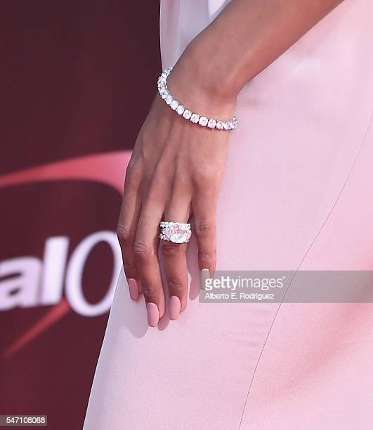 Recording artist Ciara ring detail attends the 2016 ESPYS at Microsoft Theater on July 13 2016 in Los Angeles California