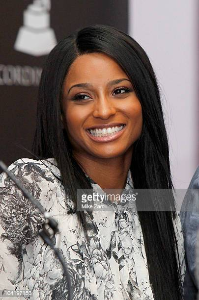Recording artist Ciara speaks on a panel at the Atlanta Chapter's Anatomy of A Hit sponsored by PE Wing at Glenn Schick Mastering on September 16...