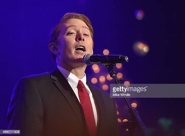 Recording artist Clay Aiken performs onstage during the 2015 Hollywood Christmas Parade on November 29 2015 in Hollywood California