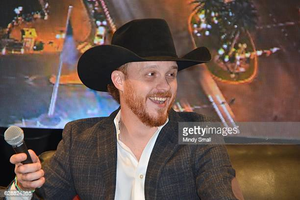 Recording artist Cody Johnson appears during the Outside The Barrel with Flint Rasmussen show at Rodeo Live during the National Finals Rodeo's Cowboy...