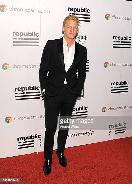Recording artist Cody Simpson attends the Republic Records Grammy Celebration presented by Chromecast Audio at Hyde Sunset Kitchen Cocktail on...