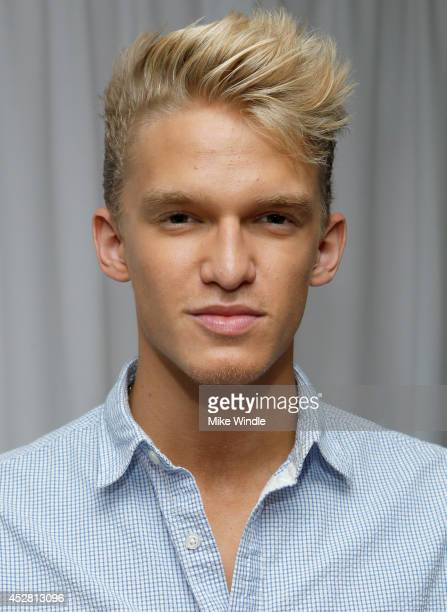 Recording artist Cody Simpson in the green room at the 2014 Young Hollywood Awards brought to you by Samsung Galaxy at The Wiltern on July 27 2014 in...