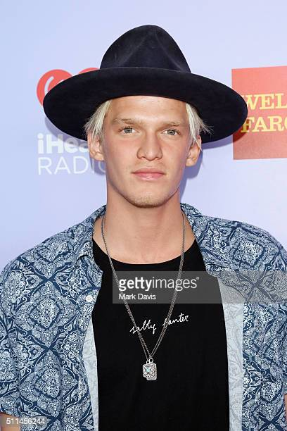 Recording artist Cody Simpson poses backstage during the first ever iHeart80s Party at The Forum on February 20 2016 in Inglewood California