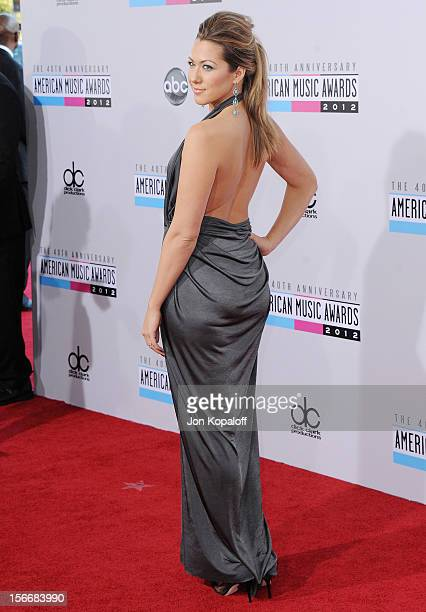 Recording artist Colbie Caillat arrives at The 40th American Music Awards at Nokia Theatre LA Live on November 18 2012 in Los Angeles California