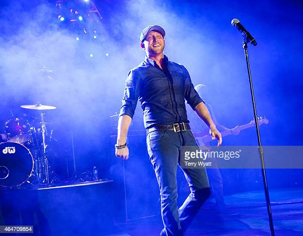 Recording Artist Cole Swindell performs during the New Faces of Country at CRS 2015 on February 27 2015 at the in Nashville Tennessee