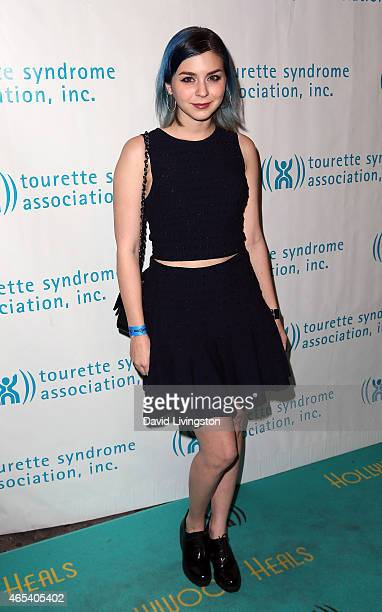 Recording artist Colette Carr attends the 2nd Annual Hollywood Heals Spotlight On Tourette Syndrome at House of Blues Sunset Strip on March 5 2015 in...