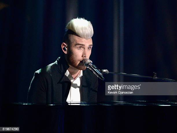 Recording artist Colton Dixon performs onstage during FOX's American Idol Finale For The Farewell Season at Dolby Theatre on April 7 2016 in...