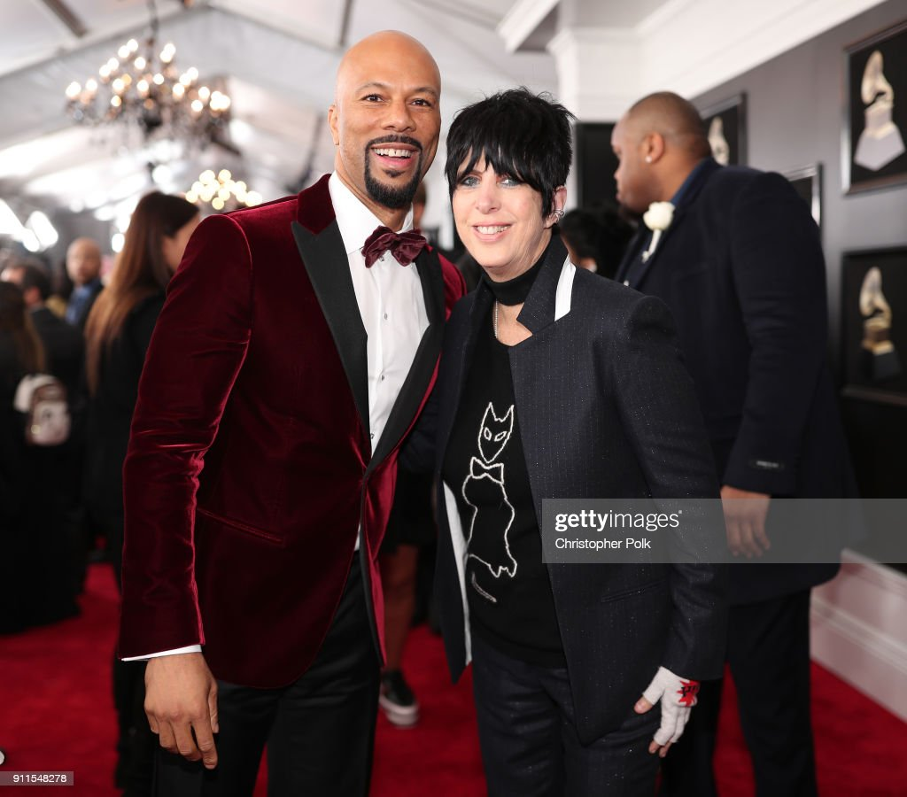 Recording artist Common and songwriter Diane Warren attend the 60th Annual GRAMMY Awards at Madison Square Garden on January 28, 2018 in New York City.