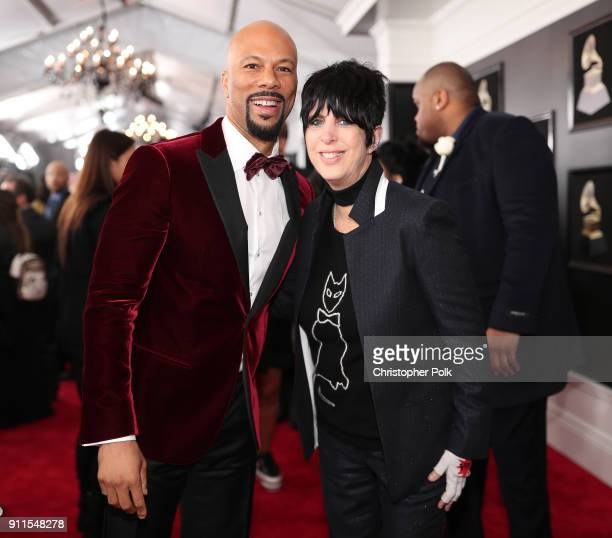 Recording artist Common and songwriter Diane Warren attend the 60th Annual GRAMMY Awards at Madison Square Garden on January 28 2018 in New York City