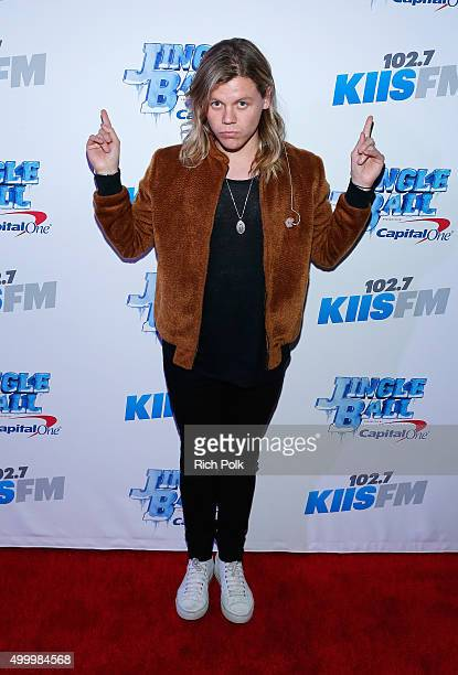 Recording artist Conrad Sewell attends 1027 KIIS FM's Jingle Ball Village at KIIS FM's Jingle Ball 2015 Presented by Capital One preshow on December...