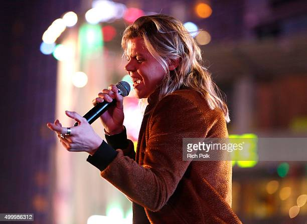 Recording artist Conrad Sewell performs onstage during 1027 KIIS FM's Jingle Ball Village at KIIS FM's Jingle Ball 2015 Presented by Capital One...