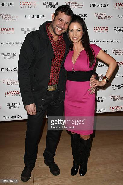 Recording artist Cooper Boone and news reporter Jill Nicolini attend the Tck Tck Tck Time for Climate Change at the Wired Store on December 4 2009 in...