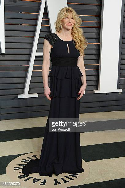 Recording artist Courtney Love attends the 2015 Vanity Fair Oscar Party hosted by Graydon Carter at Wallis Annenberg Center for the Performing Arts...